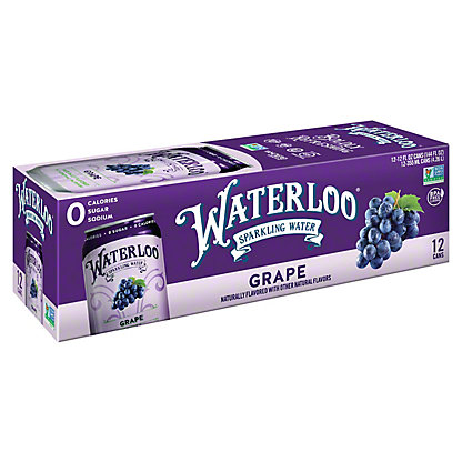 Waterloo Grape Sparkling Water, Ea