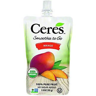 Ceres Mango Smoothie To Go, 3.5 oz