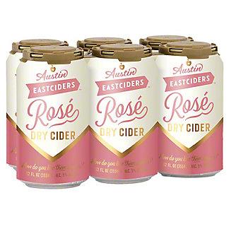 Austin Eastciders Rose Dry Cider 12 oz Cans, 6 pk
