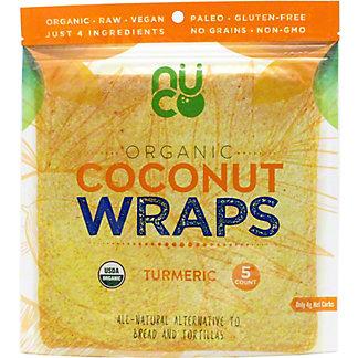 Nuco Organic Coconut Wraps Turmeric, 5 ct