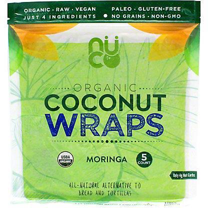 Nuco Organic Coconut Wraps Moringa, 2.5 OZ