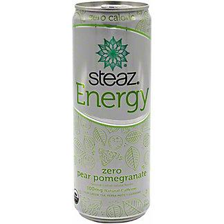 Steaz Energy Zero Cal Pear Pomegranate, 12 oz