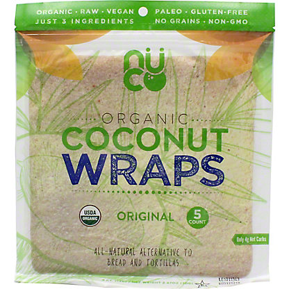 Nuco Organic Coconut Wrap Original, 5 ct