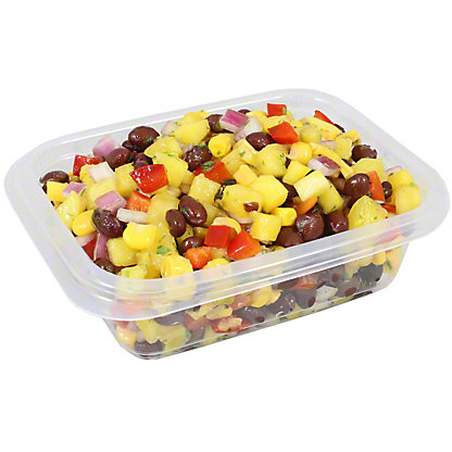 Chef Prepared Pineapple Mango Salad With Black Beans, lb