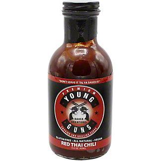 Young Guns BBQ Sauce Red Thai Chili, 15.5 oz