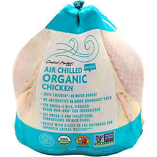 Central Market Organic Air Chilled Whole Young Chicken Roaster