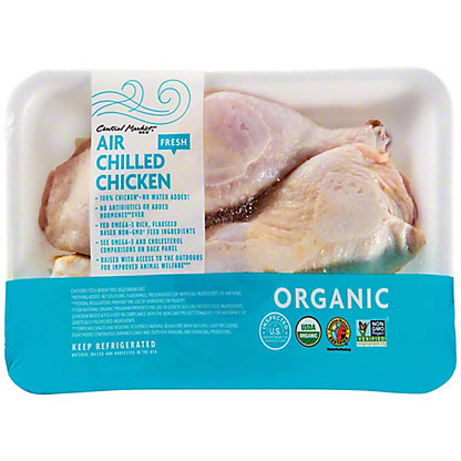 Central Market Organic Air Chilled Whole Leg Chicken Bone-in, lb