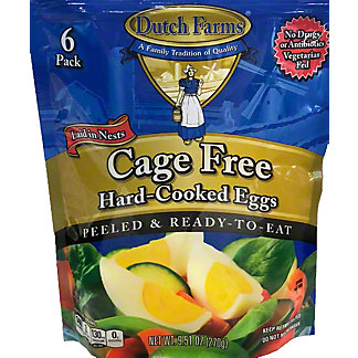 Dutch Farms  Cage Free Hardcooked Eggs, 6 CT