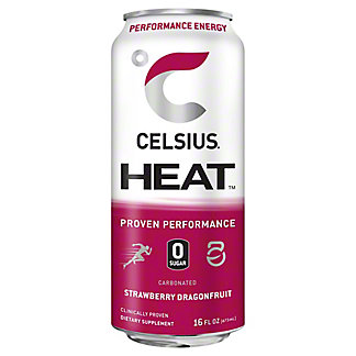 Celsius Heat Strawberry Dragonfruit, 16 oz