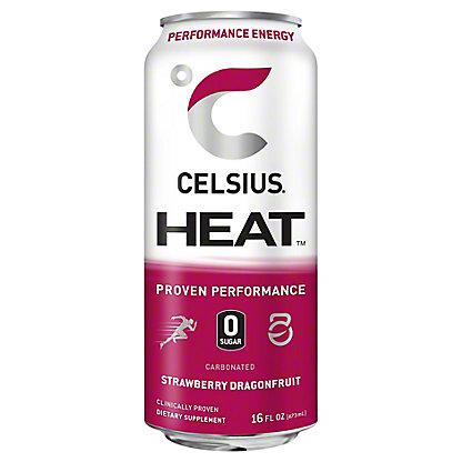 Celsius Heat Strawberry Dragonfruit, 16 oz