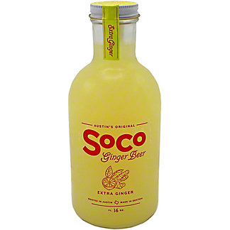 Soco Ginger Beer Extra Ginger, 16 OZ