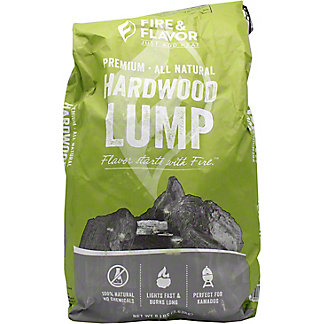 Fire & Flavor Hardwood Lump Charcoal, 8 lb