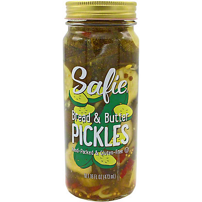 Safies Bread & Butter Pickles, 16 oz
