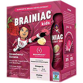 Brainiac Yogurt Drink Strawberry Banana 4PK, 16 OZ