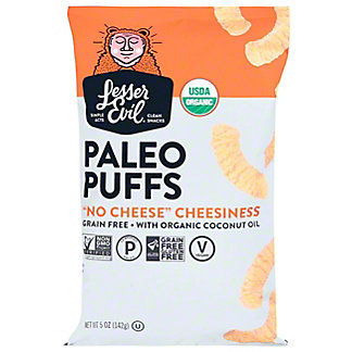 Lesser Evil Paleo Puffs No Cheese Cheesiness, 5 oz