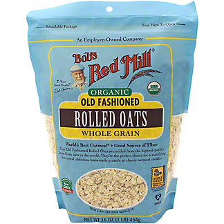 Bob's Red Mill Oats Rolled Old Fashioned Organic, 16 oz