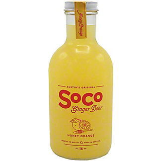 Soco Ginger Beer Honey Orange, 16 oz