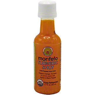 Monfefo Cold Pressed Shot Turmeric Organic, 1.7 OZ