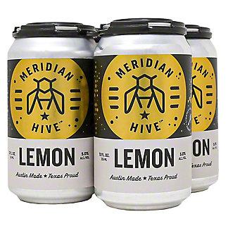 Meridian Hive Lemon Mead 12 oz Cans, 4 pk