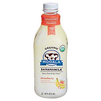 Mooala Banana Milk Strawberry Organic, 48 oz