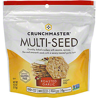 Crunchmaster Multiseed Roasted Garlic Crackers, 4 oz