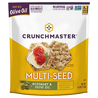 Crunchmaster Multiseed Rosemary Olive Oil, 4 oz