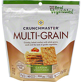 Crunchmaster Multigrain Roasted Vegetable Crackers, 4 oz
