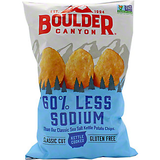 Boulder Canyon 60% Low Sodium Potato Chips, 6.5 oz