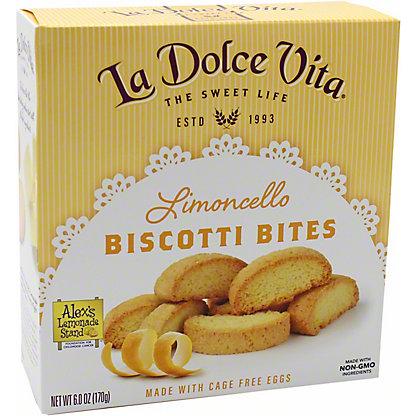 La Dolce Vita Limoncello Biscotti Bites, 6 OZ