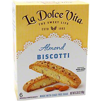 La Dolce Vita Almond Biscotti, 6.35 oz