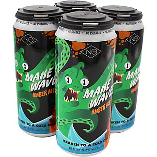 No Coast Make Waves Amber Ale, Cans, 4 pk, 16 fl oz ea