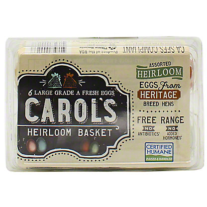Pete And Gerry's Carols Heirloom Mixed Eggs Large, 6 ct