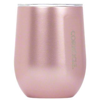 Corkcicle Stemless Rose Metallic, 12 oz