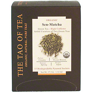 The Tao Of Tea Organic Sencha Matcha , 15 ct