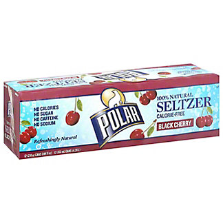 Polar Black Cherry Seltzer , 12 Pack