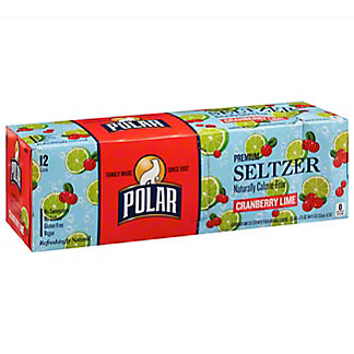 Polar Cranberry Lime Seltzer, 12 pack