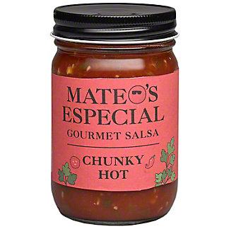 Mateos Hot Chunky Salsa, 16 oz