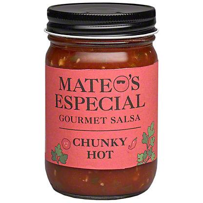 Mateos Hot Chunky Salsa, 16 oz