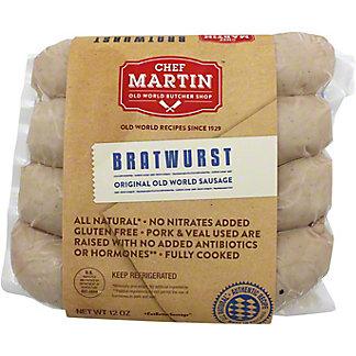 Chef Martin Old World Butcher Bratwurst, 12 OZ