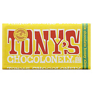 Tony's Chocolonely Bar Milk Chocolate Honey Almond Nougat, 6.35 OZ