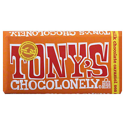 Tony's Chocolonely Bar Milk Caramel Sea Salt, 6.35 oz