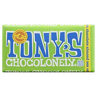 Tony's Chocolonely Bar Dark Almond Sea Salt, 6.35 oz