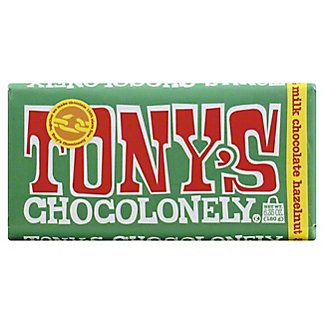 Tony's Chocolonely Bar Milk Hazelnut, 6.35 oz