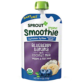 Sprout Smoothie Blueberry Banana with Coconut Milk Pouch, 4 oz
