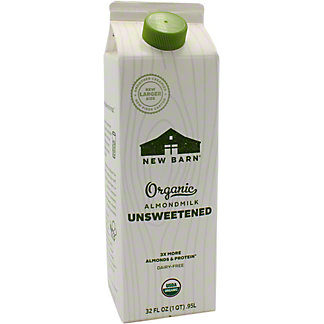 New Barn Milk Almond Unsweetened, 32 OZ