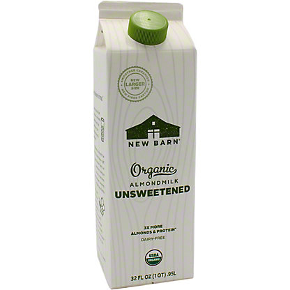 New Barn Milk Almond Unsweetened, 32 OZ