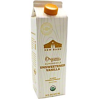 New Barn Milk Almond Unsweetened Vanilla, 32 OZ