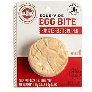3 Little Pigs Sous-Vide Egg Bite Ham Pepper, 2.5 OZ