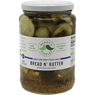 Randy's Randys Pickles Bread & Butter Pickles, 24 OZ