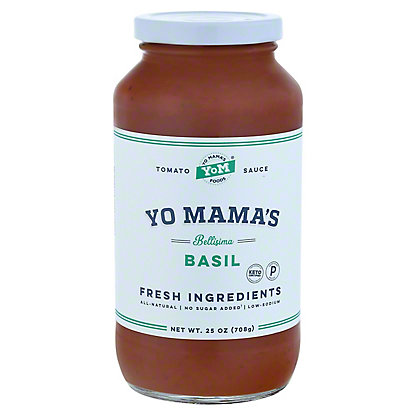 Yo Mama's Bellisima Basil Pasta Sauce, 25 OZ